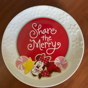 Minnie Mouse Christmas plate